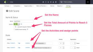 Edit Infusionsoft Flames Score