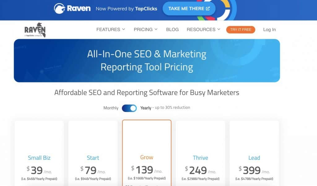 raven tools pricing